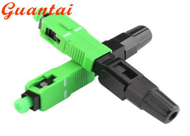 SC / APC Fiber Optic Fast Connector Excellent Temperature Stability Custom Design