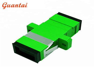 China Low Insert Loss FTTH Fiber Optic Adapters Accurate External Size In Green And Black factory