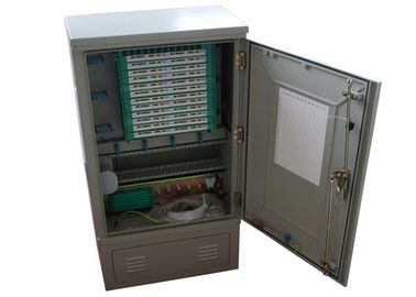 China FTTH Multicore Outdoor Fiber Distribution Cabinet , Fiber Termination Cabinet White Color factory