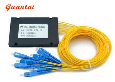 1X8 ABS Coupler Fiber Optic Cable Splitter Customized Fiber Length Stable Working